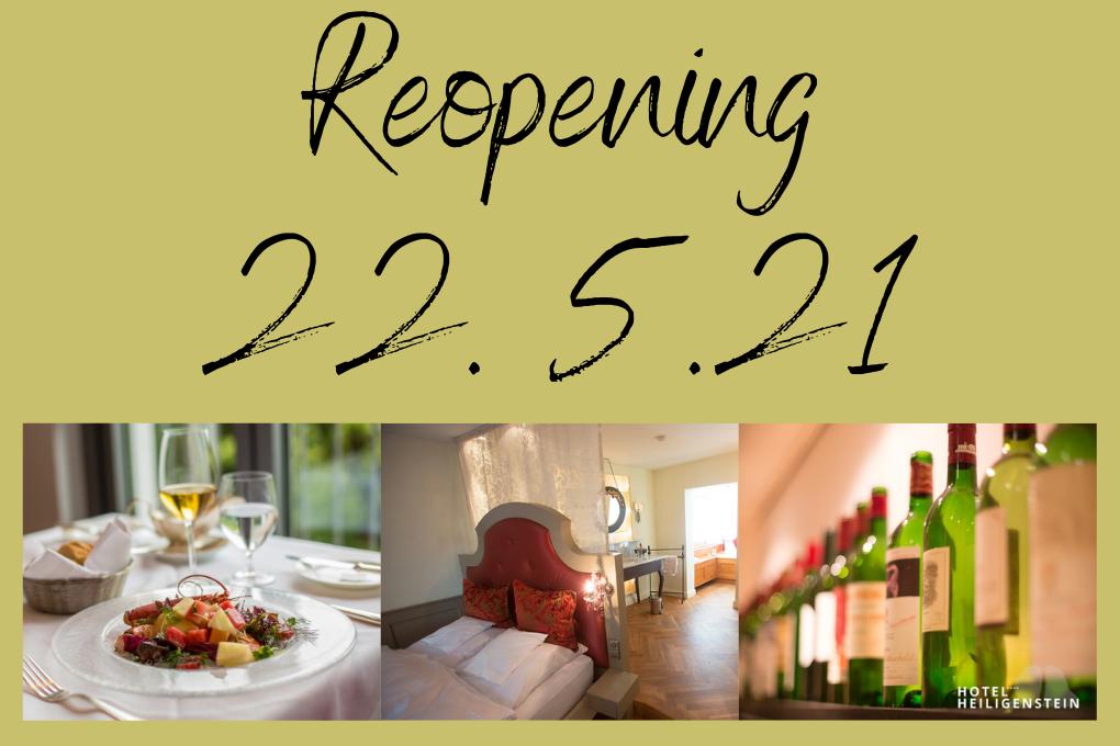 Reopening 22. May 2021